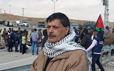 Palestinian official Ziad Abu Ein, on Wednesday, December 10, 2014 (photo credit: Facebook)