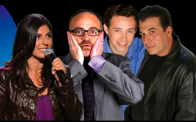 The four comedians here in Israel on the current Comedy for Koby tour (Courtesy Comedy for Koby)