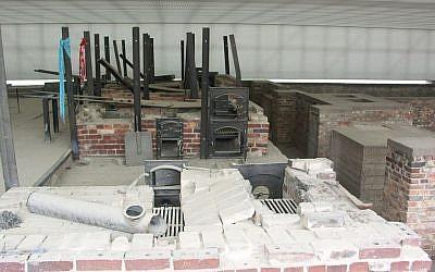 The Sachsenhausen Crematorium (photo credit: Sally Scott/Wikipedia)