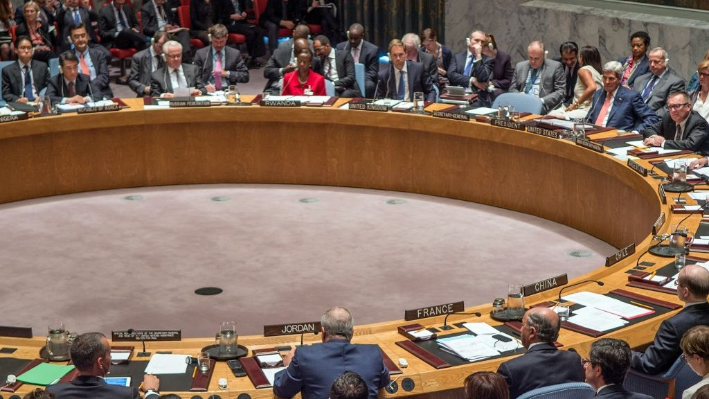 A United Nations Security Council meeting on September 19, 2014 (photo credit: US State Department)