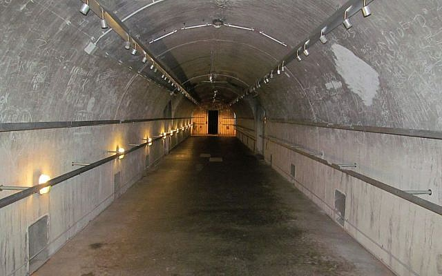 A restored Nazi bunker in Bavaria, Germany, (photo credit: CC BY-SA David Holt, Flickr)