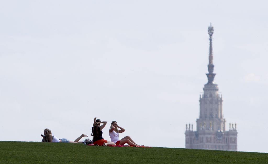 Moscow State University, May 2013 (photo credit: AP/Misha Japaridze)