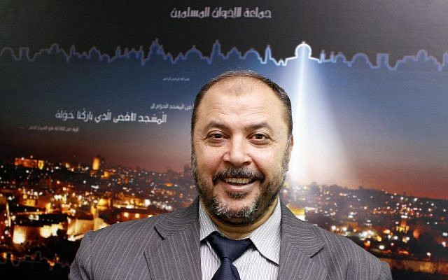 In a Saturday, July 21, 2012 photo, the Deputy of Islamic Action Front (IAF) Zaki Bani Irsheid speaks during an interview to the Associated Press (photo credit: AP/Raad Adayleh)