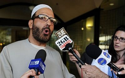 An April 18, 2011, photo of Man Haron Monis, the gunman behind the Lindt Cafe siege in Sydney, Australia (photo credit: AP/AAP Image, Dean Lewins)