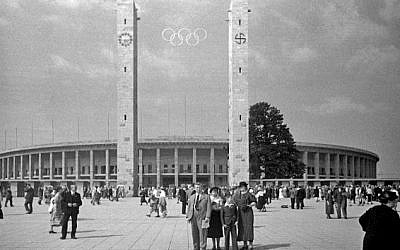 The Berlin Olympic Stadium in 1936  (photo credit: Wikipedia)