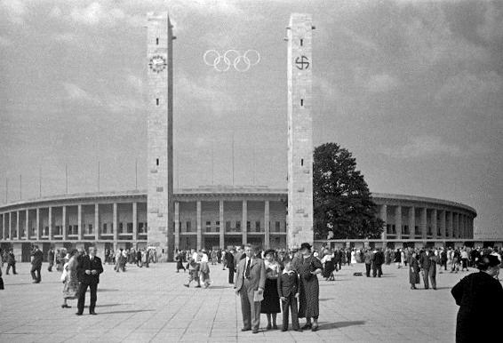 The Berlin Olympic Stadium in 1936  (photo credit: Wikipedia)