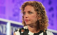 Debbie Wasserman Schultz speaks onstage at the FORTUNE Most Powerful Women Summit, October 16, 2013 in Washington, DC. (Paul Morigi/Getty Images for FORTUNE/via JTA)