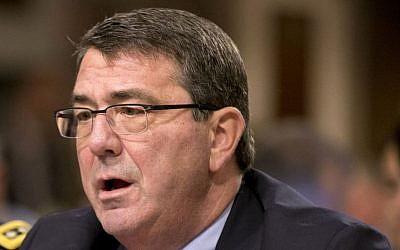 Ashton Carter testifies on Capitol Hill in Washington, February 12, 2013. (photo credit: AP/J. Scott Applewhite, File)
