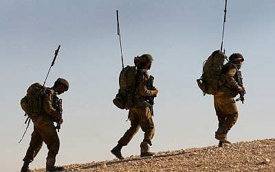 Soldiers from the Givati Brigade training in 2012. (photo credit: Moshe Shai/FLASH90)