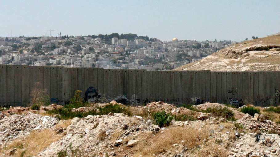 A view of Jerusalem's Old City and the Dome of the Rock from the outskirts of Bethlehem, in the West Bank, on June 28, 2014. (Nick Saffan/Flash90)