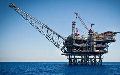 The Tamar natural gas field off the coast of Ashkelon (photo credit: Moshe Shai/FLASH90)