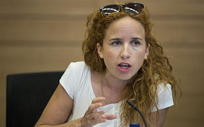 Labor MK Stav Shafir attends a meeting of the Knesset Finance Committee, September 9, 2014 (photo credit: Noam Revkin Fenton/Flash90)