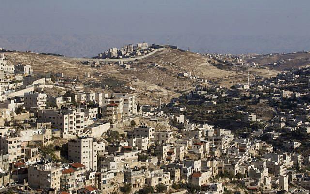 Ras al-Amoud in East Jerusalem, on October 21, 2014. (Miriam Alster/Flash90)