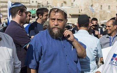 Bentzi Gopstein, head of Lehava, in Jerusalem's Old City, October 30, 2014. (Yonatan Sindel/Flash90)