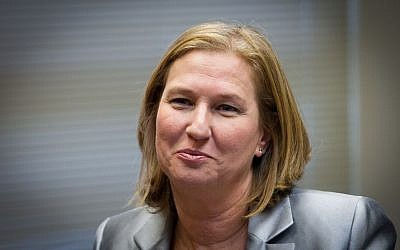 Outgoing Justice Minister Tzipi Livni, December 1, 2014 (photo credit: Miriam Alster/Flash90)