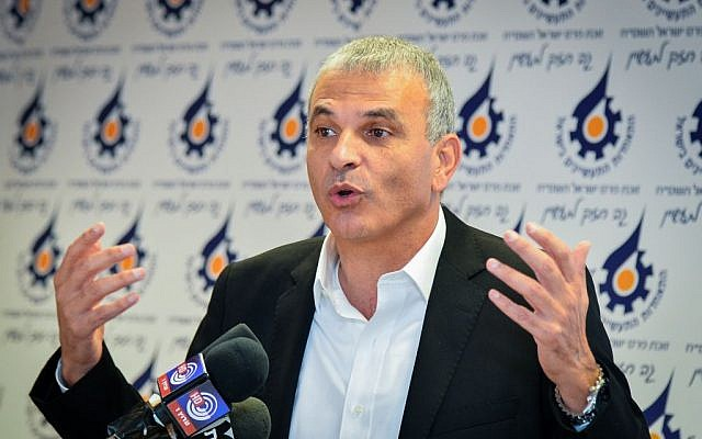 Moshe Kahlon speaking in Tel Aviv on December 2, 2014. (photo credit: Flash90)