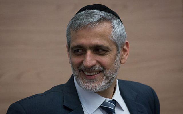 Former Shas MK Eli Yishai, December 8, 2014 (photo credit: Miriam Alster/Flash90)
