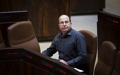 Defense Minister Moshe Ya'alon in the Knesset on December 8, 2014. (photo credit: Yonatan Sindel/Flash90)