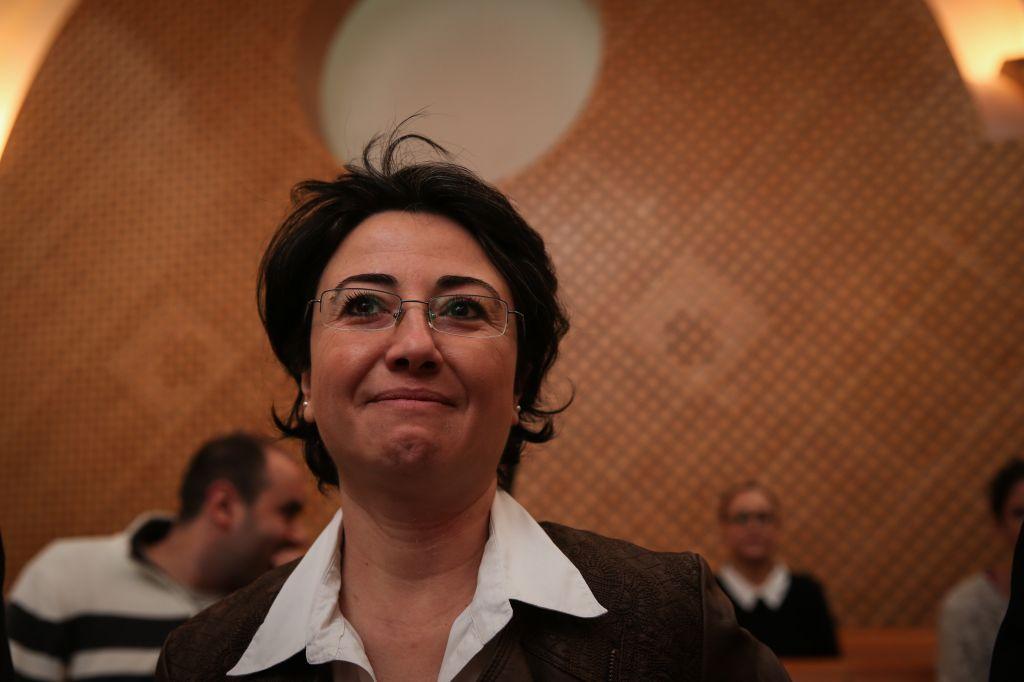 Arab MK Hanin Zoabi at a hearing on her case at the Supreme Court in Jerusalem, December 9, 2014 (photo credit: Hadas Parush/Flash90)