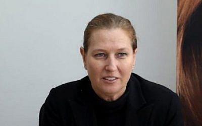 Tzipi Livni on December 12, 2014. (photo credit: Flash90)