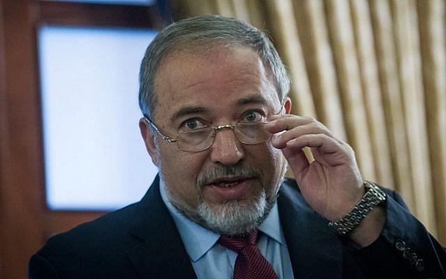 Foreign Minister Avigdor Liberman in Jerusalem on December 22, 2014. (photo credit: Miriam Alster/FLASH90)
