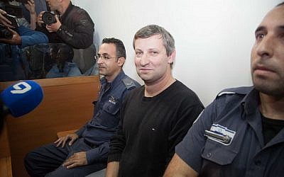 Former tourism minister Stas Misezhnikov in court on Wednesday, December 24, 2014 (FLASH90)