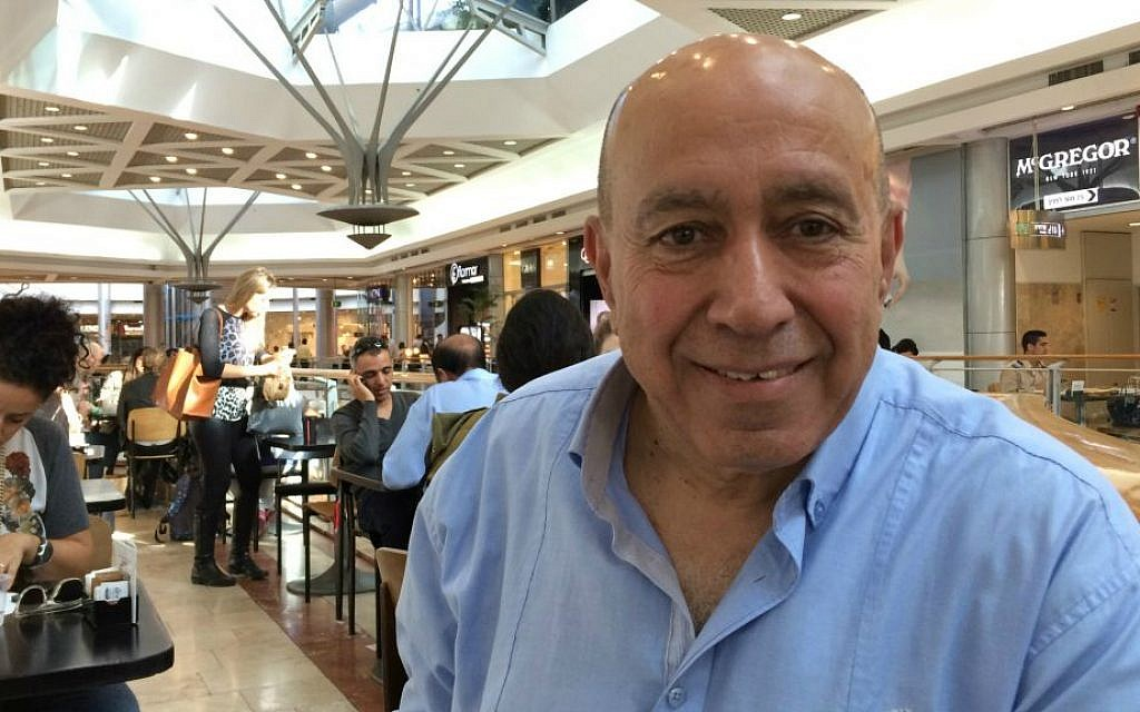 Sportscaster and potential political candidate Zouheir Bahloul (photo credit: Renee Ghert-Zand/Times of Israel)