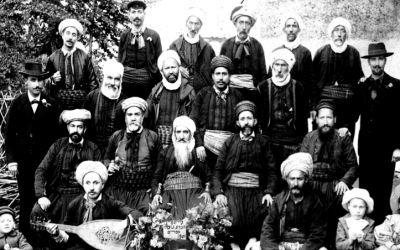 Illustrative photo of Algerian Jewish tailors. (Courtesy of JIMENA)