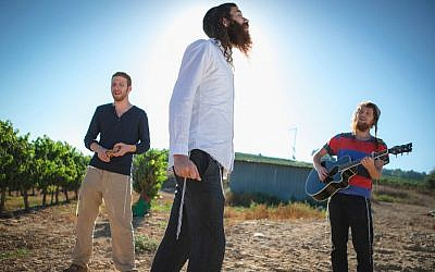 The men of Zusha, drummer Elisha Mendl Mlotek, vocalist Shlomo Ari Gaisin and guitarist Zachariah 'Juke' Goldschmiedt (Photo credit: Noam Chojnowski)