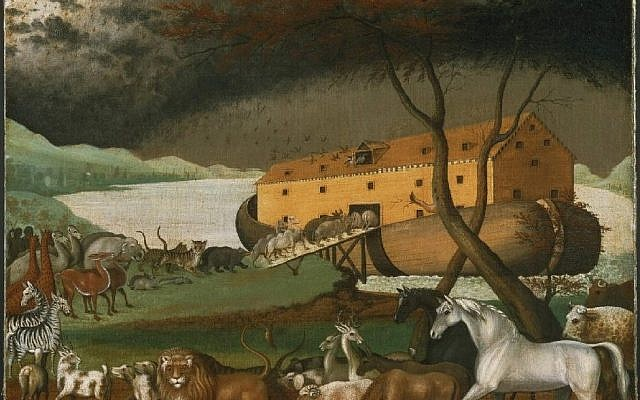 Illustrative: Noah's Ark (1846), a painting by the American folk painter Edward Hicks