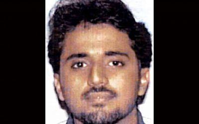 This undated handout file photo provided by the FBI shows al-Qaeda operative Adnan Shukrijumah.  (photo credit: AP Photo/FBI, File)