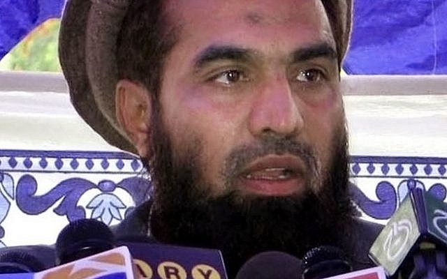 In this Saturday, June 28, 2008 file photo, Pakistani Zaki-ur-Rehman Lakhvi speaks during a rally at Muzaffarabad, in Pakistani controlled Kashmir, Pakistan. (Roshan Mughal/AP)