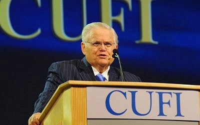 Pastor John Hagee at 2014 CUFI Summit (courtesy)