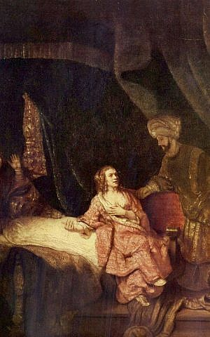 Joseph Accused by Potiphar's Wife, by Rembrandt van Rijn, 1655. (public domain via wikipedia)
