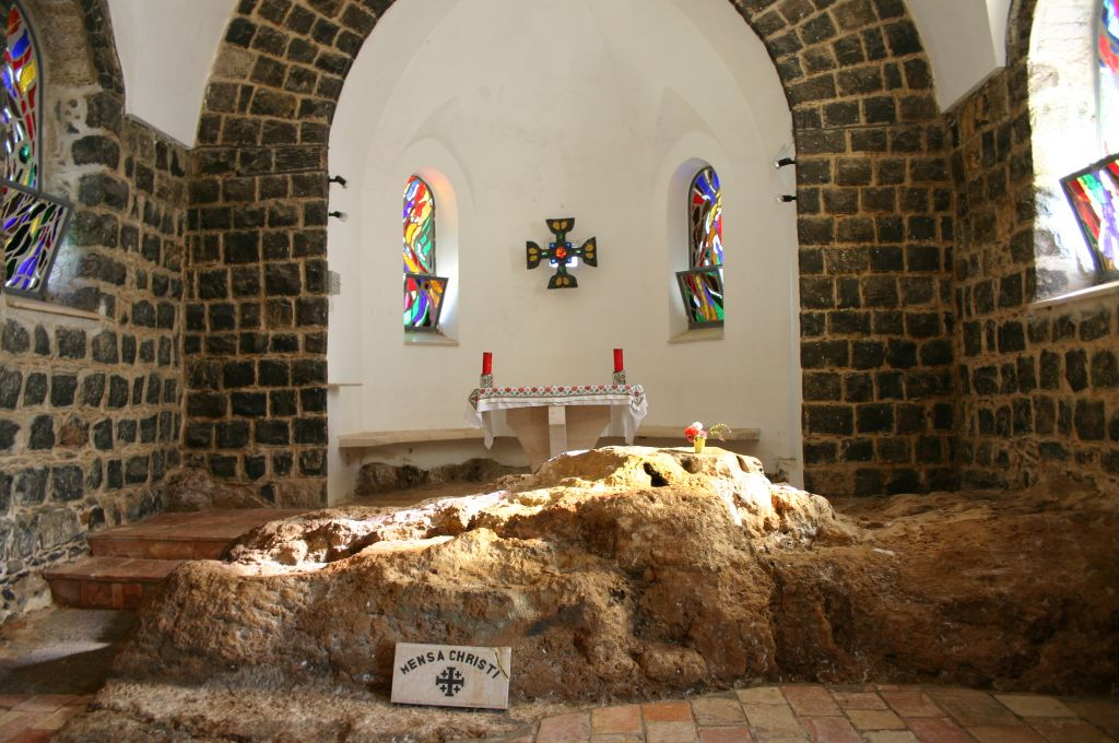 Interior of the Church of St. Peters Primacy (photo credit: Shmuel Bar-Am)