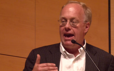 Journalist Chris Hedges speaks during a lecture in 2014. (screen capture: YouTube)