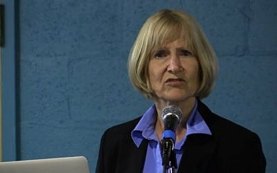 Alison Weir, founder of If Americans Knew, an organization seeking to delegitimize US support for Israel. (YouTube screenshot)