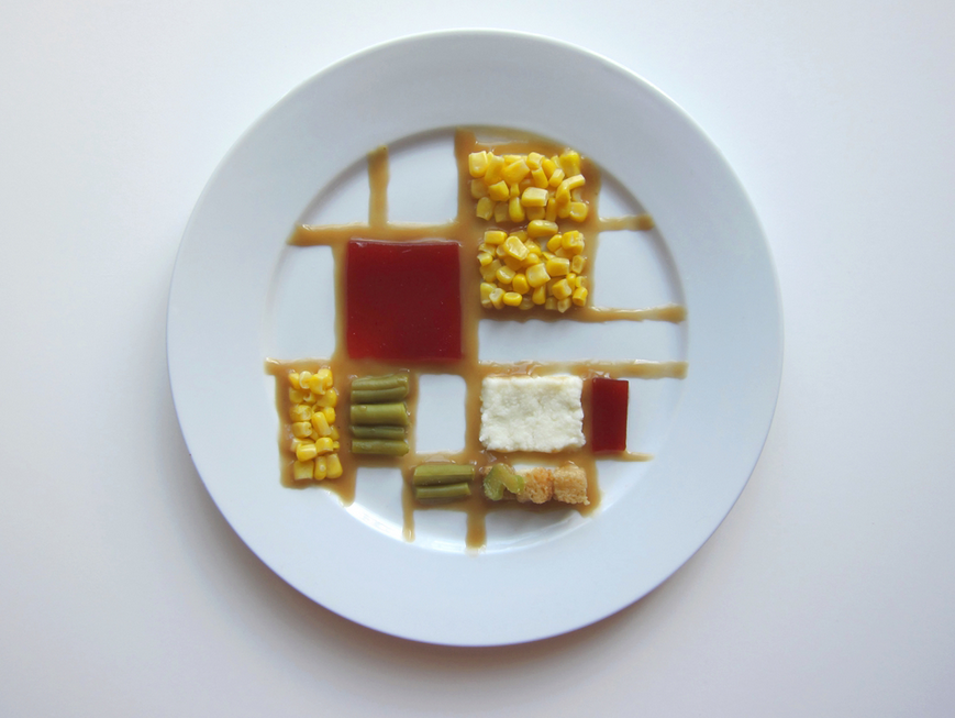 Hannah Rothstein's Piet Mondrian version of the Thanksgiving Special (Courtesy Hannah Rothstein)