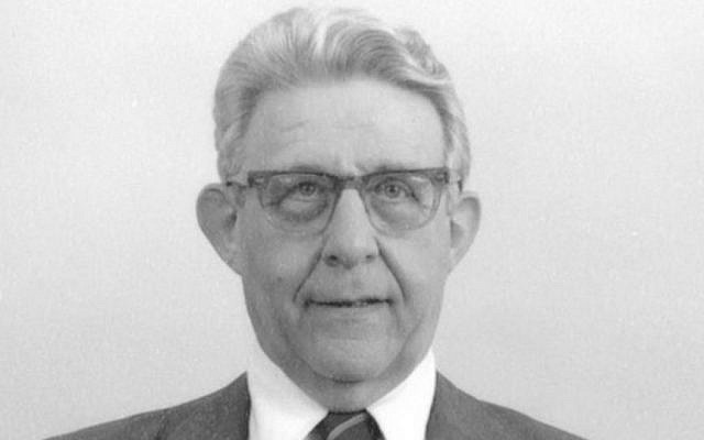 Robert Wolfe  in 1988 (Photo credit: JTA/Courtesy of the National Archives)