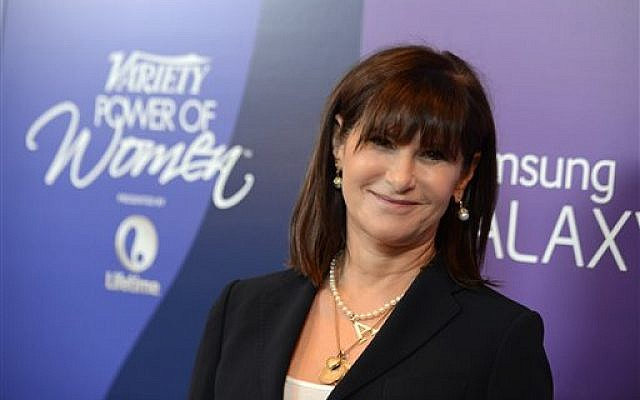 FILE --In this Oct. 4, 2013 file photo, Amy Pascal, Sony Pictures Entertainment co-chairman, arrives at Variety's 5th Annual Power of Women event at the Beverly Wilshire Hotel on Friday, Oct. 4, 2013, in Beverly Hills, Calif. (Photo credit: Jordan Strauss/Invision/AP, File)