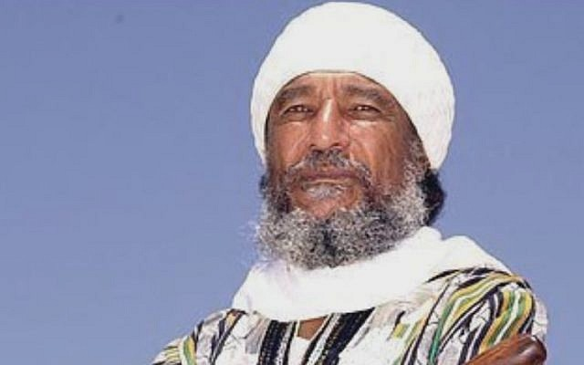 Ben Ammi Ben-Israel, spiritual leader of the Black Hebrews, who died Saturday at 75 (screen capture: YouTube)