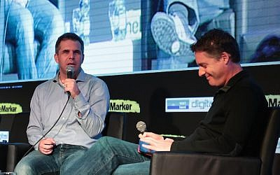 (L to R) Google Israel CEO (Meir Brand) and Amir Teig at the Digital Conference in Tel Aviv (Photo credit: Courtesy)