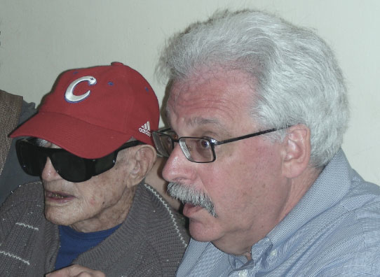 Kit Krieger, right, with Cuba native and former Major League pitcher Connie Marrero. (Courtesy of Oscar Soule/ via JTA)