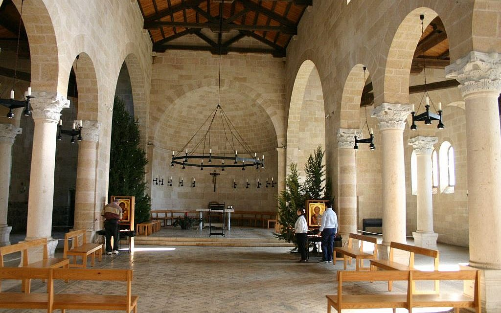 Inside the church at Tabha (photo credit: Shmuel Bar-Am)