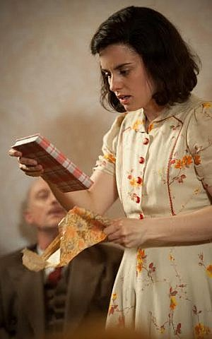 Production shot of the Dutch play 'Anne,' created with the Anne Frank Fonds in Basel and recently extended to run through spring 2015 (photo credit: Kurt van der Elst)