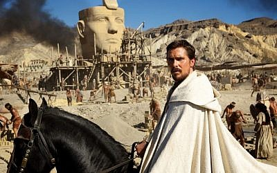 Christian Bale as a militant Moses in Ridley Scott's 'Exodus: Gods and Kings' (photo credit: Courtesy 20th Century Fox)