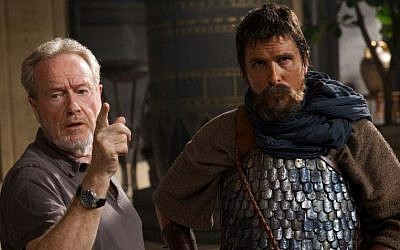 Ridley Scott directing Christian Bale on the set of 'Exodus: Gods and Kings.' (20th Century Fox)