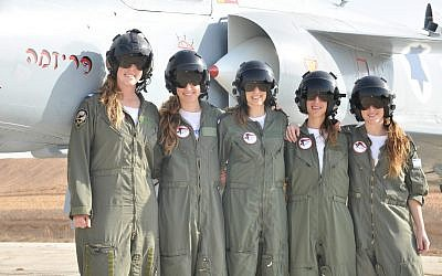 Female graduates of the IAF's 163rd flight school course (photo credit: IDF Flickr/CC BY-NC)