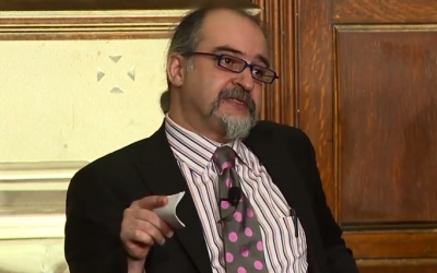 Gaith al-Omari, fellow at the Washington Institute for Near East Policy and former director of the American Task Force on Palestine, speaking at Georgetown University in Washington, DC in 2013. (screen shot: YouTube)
