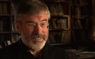 Irish nationalist and leader of the Sinn Fein political party Gerry Adams in an interview with the BBC in 2010 (screenshot: YouTube)